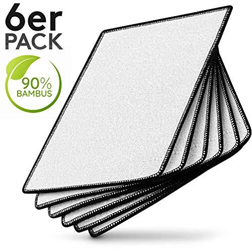 Meisterfaktur Premium Bambus Tücher [6 Stück] - 90% Bambus - Ideale Bambus Putztücher für Hochglanzküchen - Umweltfreundliche Bambus Lappen für Küche, Bad & Haushalt