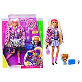 Barbie - Extra Bambola con 2 Lunghi Codini Biondi con Cucciolo e Tanti Accessori, Giocattolo per Bambini 3+Anni, GYJ77