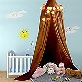 Yosoo - Dosel para cuna de bebé, habitación infantil Yellowish-brown