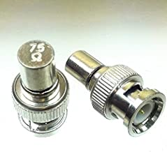 CESS BNC Male Plug RF/Coaxial Connector Adapter 75 OHM End Terminator Jack (jcx) (4 Pack)