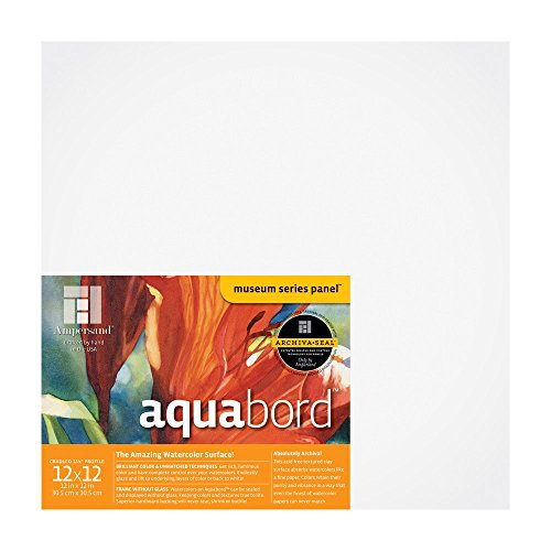Ampersand Aquabord Panel for Watercolor and Gouache, 1.5 Inch Cradled Profile, 12X12 Inch (CBTG1212)