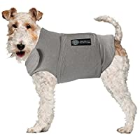 AKC - American Kennel Club Anti Anxiety and Stress Relief Calming Coat for Dogs- Grey, Small