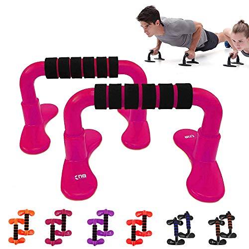 xn8push-up Bar Support de Barre de poignée en mousse Home Gym poitrine MMA Formation d'exercice Rose Rose