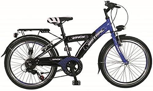 24  24 ZOLL City FAHRRAD Bike Rad KINDERFAHRRAD CITYFAHRRAD MISTRAL BLAU Schwarz