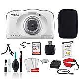 Nikon COOLPIX W100 Waterproof Rugged Digital Camera White -...
