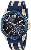 [ゲス]GUESS 腕時計 ウォッチ 100M防水 カレンダー ファッション カジュアル ラバーベルト メンズ [並行輸入品]