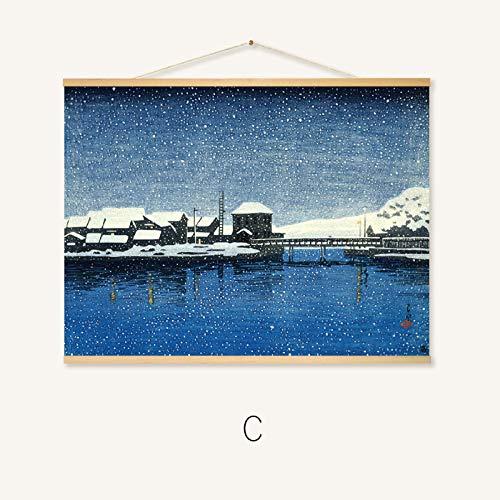 Woonkamer Woonkamer Schilderij Idyllische Groene Plant Schilderij Kleur Abstract Blad Decoratieve Schilderij 60 * 80cm 232-c