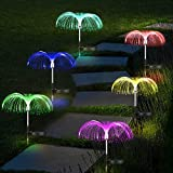 OUTTUO Solarleuchte Garten Farbwechsel 4 Stück Solarlicht Mehrfarben Gartenstecker Licht, IP65 wasserdichte Außen Verzierungen, Langzeitarbeit für Garten, Rasen, Terrasse, Backyard