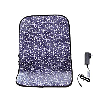WOOLALA Heating Pad for Home Adjustable Temp Heated Mat Office Chair Cushion with Heat Therapy for Back Lumbar Hip Thigh 24V Low Voltage/Washable/Infrared Fast Heat Up