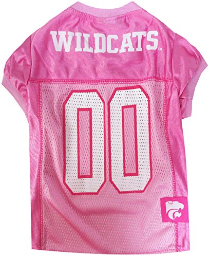 Pets First Collegiate Kansas State Wildcats Dog Jersey, Large, Pink