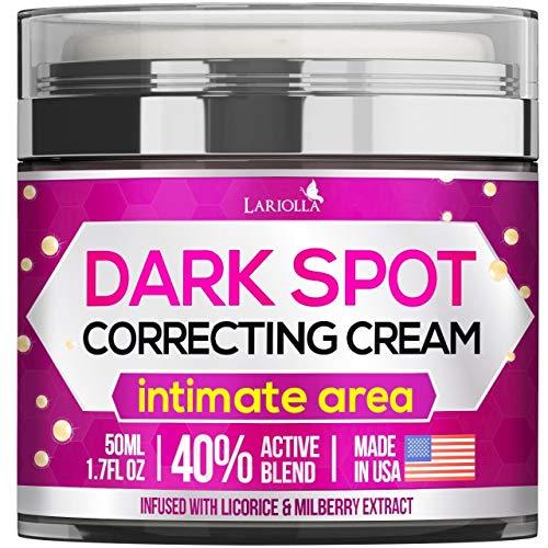 Dark Spot Corrector Cream for Face and Sensitive Skin, Bikini - Made in USA - Sun Spots, Age Spots, Hyperpigmentation and Even Skin Tone – 40% Active Blend