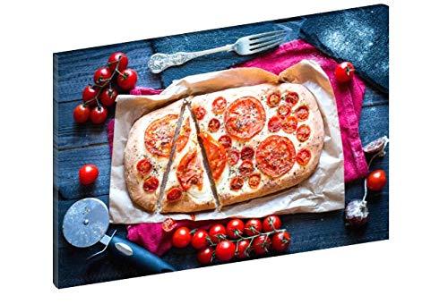 Vierkante print op canvas, 70 x 50 cm, van HD-weefsel, voor pizzeria, hotel