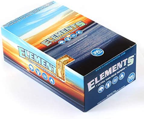 ELEMENTS Ultra Thin Rice Rolling Paper Size 1 1/4-300 Papers