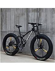 26 inch wiel 27 snelheid volwassen bergvet fiets variabele snelheid weg fiets off-road sneeuwscooter mannen outdoor ride MTB (Color : Black 3 knife wheel, Size : 27 Speed)