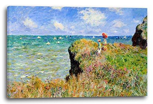 Leinwand (80x60cm): Claude Monet - Spaziergang auf Klippen-Ebene bei Pourville
