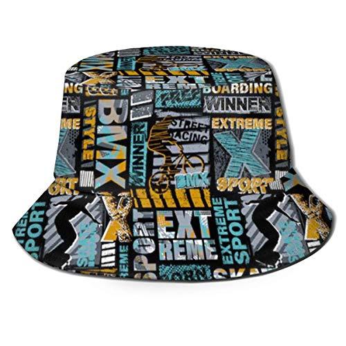 Extreme Sport - Sombrero de patinaje para verano, viajes, playa, al aire libre, UV, unisex, para pescador