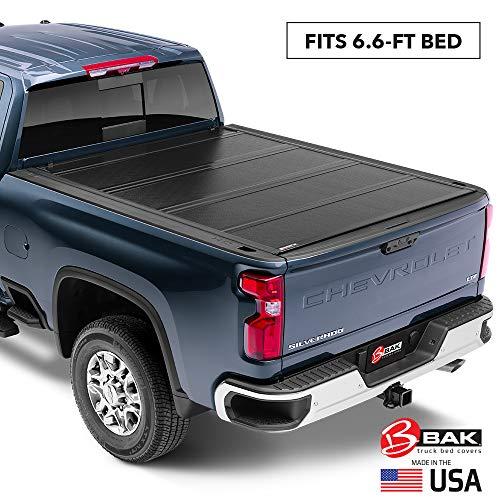 BAK BAKFlip G2 Hard Folding Truck Bed Tonneau Cover | 226121 | Fits 2014-2018, 19 Ltd/Legacy Chevy/GMC Silverado/Sierra Limited/Legacy, 2014 1500, 2015-19 ALL 6' 7' Bed (78.9')