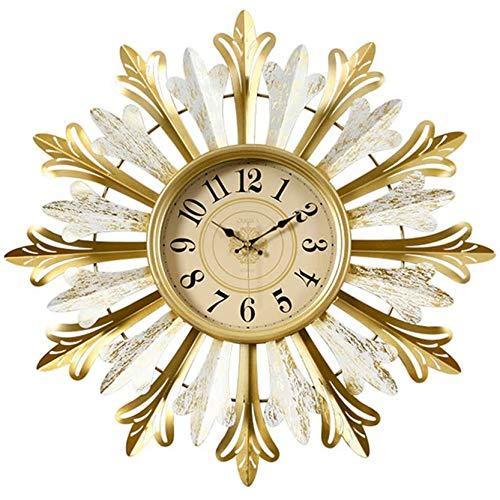 FFTUB Relojes Vintage Creativos Reloj De Pared Estilo Americano Hogar Moderno Decoración De La Pared del Dormitorio De La Sala De Estar,53.5cm