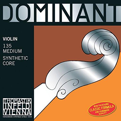 Thomastik Einzelsaite für 4/4 Violine Dominant - D-Saite Kunststoffkern, Silber umsponnen, mittel
