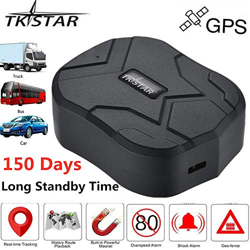 TKSTAR GPS Tracker, Real Time GPS Tracker for Vehicles 150 Days Long Time Standby Waterproof Strong Magnet Car GPS Tracker Tracking Device for SUV Car/BUS/Trucks Fleet Management TK905B
