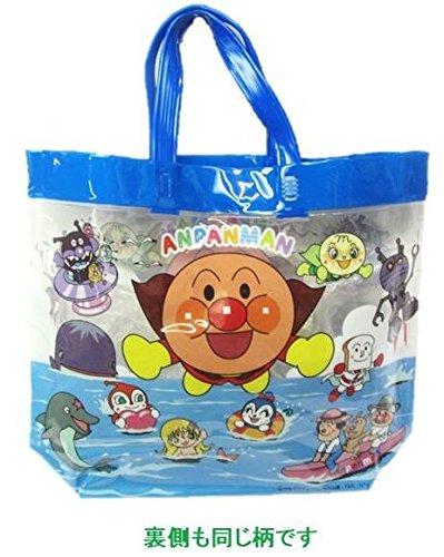 ◇ ビニールバッグ (プールバッグ) アンパンマン (持ち手 青)