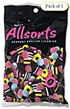 Gustaf's Allsorts Gourmet English Licorice – Natural Color & Flavors - 6.3 Oz Bag (Pack of 3)