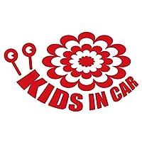 imoninn KIDS in car ステッカー 【シンプル版】 No.27 デンデンムシさん (赤色)