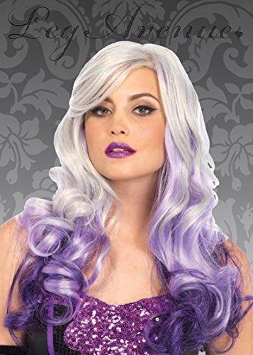 Womens gothique gris et mauve Allure perruque