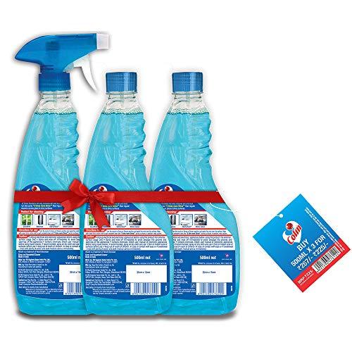 Harpic Toilet Cleaner, Original - 1000ml (Pack of 2) + Lizol Floor Cleaner, Citrus - 2L + Colin Glass Cleaner - 500ml (Pack of 3)