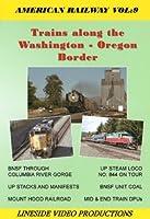 Trains along the Washington Oregon Border, Union Pacific and BNSF along the Columbia River