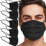 Tanness 5 PACK Reusable 100% Cotton <span class='highlight'>Face</span> Cover <span class='highlight'>Mask</span> Washable <span class='highlight'>Face</span> Mouth Cover - BLACK