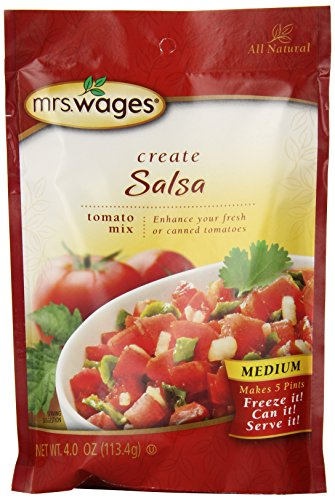 Mrs. Wages Medium Salsa Tomato Mix, 4-Ounce Packages (Pack of 6)