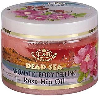 バラの香りの全身用剥がし 350mL 死海ミネラル Aromatic Body Peeling Rose Hip Oil