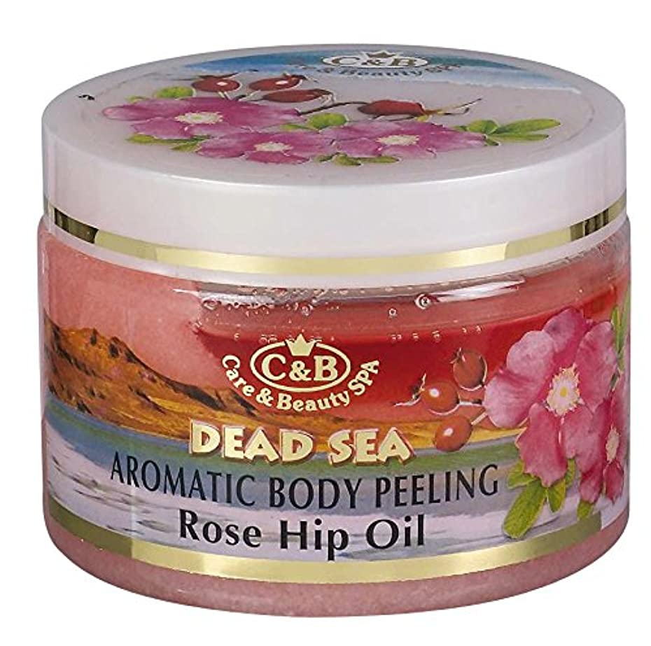 後ろ、背後、背面(部広くぞっとするようなバラの香りの全身用剥がし 350mL 死海ミネラル Aromatic Body Peeling Rose Hip Oil