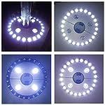 Txian Cordless 28 LED Umbrella Lights 3 Level Dimming Parasol LED Light Umbrella Pole Patio Tents Lighting Pure White… 8