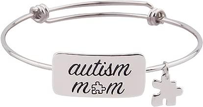 KUIYAI Love Inspirational Puzzle Piece Charm Wishing Expandable Autism Bracelet