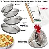 idea regalo Pasqua San Valentino Festa della Mamma Kit 4 ruoto (stampo tortiera) per pastiera...
