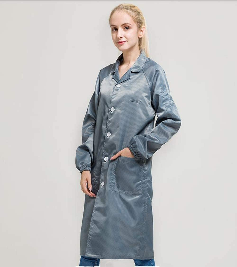 Sunday 7 ESD Anti-static Max 88% OFF Lapel Button Lab Jacket Me Coat Science Recommended