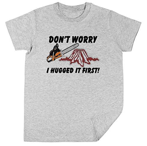 Don'T Worry I Hugged It First Kinderen Unisex T-shirt Jongens Meisjes Grijs Kids Unisex T-shirt Boys Girls Grey