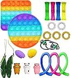YGG Fidget Toy, Set De Juguetes Sensoriales Fidget, Push Pop Bubble Sensory Fidget Toys, Alivio Del Estrés y Juguetes Sensoriales Anti-ansiedad Para Niños y Adultos (23D)