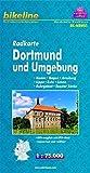 Radkarte Dortmund u. Umgebung 1:75.000, wasserfest und reißfest, GPS-tauglich mit UTM-Netz: Hamm, Hagen, Arnsberg, Lippe, Ruhr, Lenne, Ruhrgebiet, Soester Börde (Bikeline Radkarte)