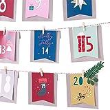 Zoharm 25 unids/set año nuevo calendario de Adviento de Navidad bolsa de papel decoraciones de Navidad para el hogar Adornos De Navidad 2019 Kerst