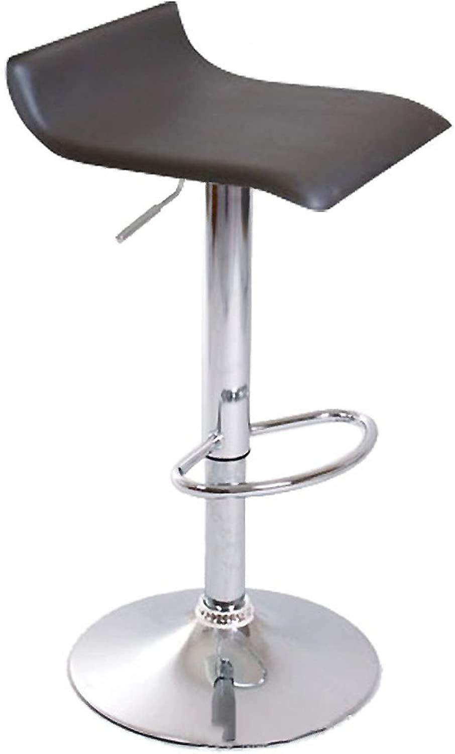 Adjustable Height Bar Stools, Fashion Swivel Kitchen Chair Electroplating high Foot Lift Chair Leatherette Exterior Base for Breakfast Bar Counter-G