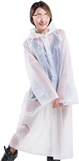Travel Portable Eva Frosted Raincoat Adult Male Female Riding Outdoor Mountaineering Long Poncho