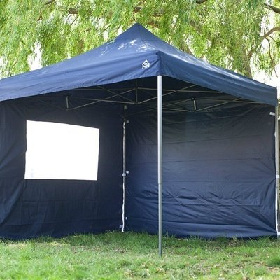 All Seasons Gazebos, Choice of 17 Colours, Premium Quality, Heavy Duty, 100% waterproof, 3x3m Pop up Gazebos with 4 x Standard Quality Zip up Side Panels + Wheeled carry bag (Navy Blue)