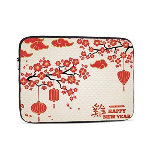 Funda para MacBook de 13 pulgadas con diseño de linterna roja china, multicolor y opciones de tamaño 10/12/13/15/17 pulgadas, maletín para tablet, multicolor (Multicolor) - laptopbag-3207-20210302
