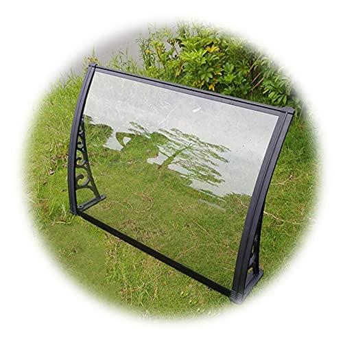 Auvent de Porte Entrée Marquise QIANDA Extérieur Polycarbonate Store Abri Climatisation Protection avec Support Noir (Size : 60cmx60cm)