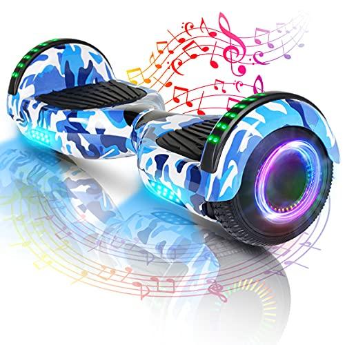 Hoverboard-Hoverboard Per Bambini, Hoverboard Autobilanciato A Due Ruote Da 6,5 Pollici, Con Bluetooth E Luci Lampeggianti A LED, Adatto A...