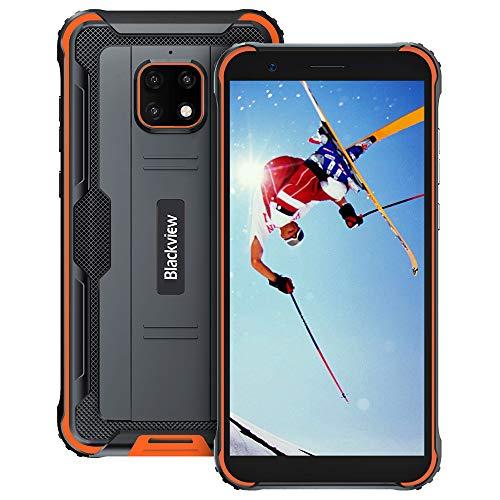 Rugged Smartphone, Blackview BV4900 Pro Android 10 4G Telefono Antiurto 4GB+64GB (128GB Espansione) Helio P22 5.7 inch, 5580mAh, 13MP + 5MP Camera Rugged Cellulare IP68 IP69K Dual SIM NFC OTG(Arancia)