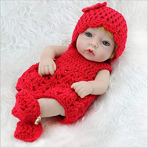ETRVBSWE Muñeca Reborn de 28 cm, muñeca Realista para bebé recién Nacido, Silicona Completa, más Suave, muñecas de la Vida Real para niños pequeños, Regalo de cumpleaños de Princesa Lavable